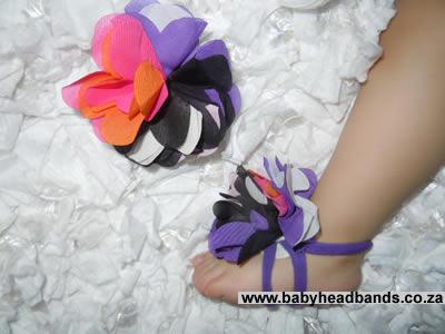 Purple Mix Footie